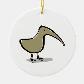 kiwi ceramic ornament