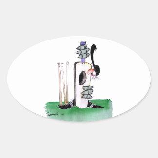 kiwi cricket batting lesson, tony fernandes oval sticker