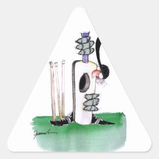 kiwi cricket batting lesson, tony fernandes triangle sticker