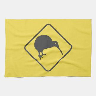 Kiwi Crossing Road Sign Kitchen Towel