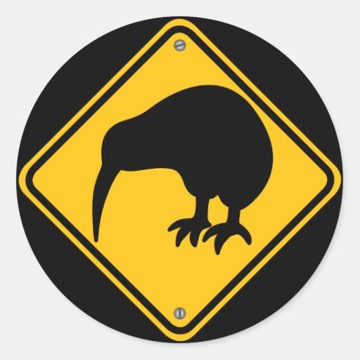 Kiwi Crossing Sticker