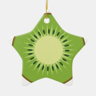 kiwi fruit ceramic ornament