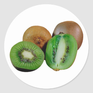 Kiwi fruit classic round sticker