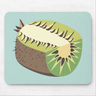 Kiwi fruit illustration mouse pad