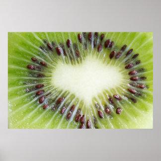 Kiwi Fruit Inside Poster