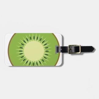 kiwi fruit luggage tag