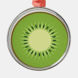 kiwi fruit metal ornament