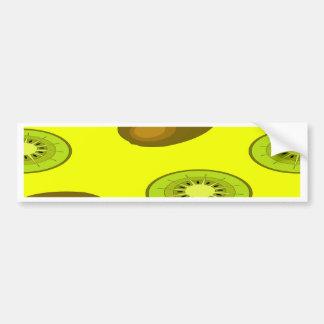 Kiwi fruit pattern bumper sticker