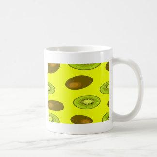 Kiwi fruit pattern coffee mug
