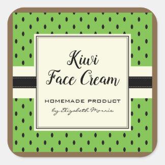 Kiwi fruit pattern homemade face cream label
