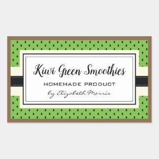 Kiwi fruit pattern, homemade green smoothie label