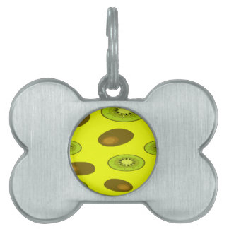 Kiwi fruit pattern pet name tag