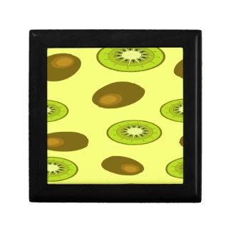 Kiwi fruit pattern small square gift box