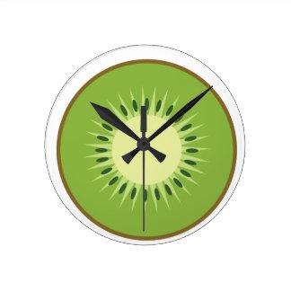 kiwi fruit round clock