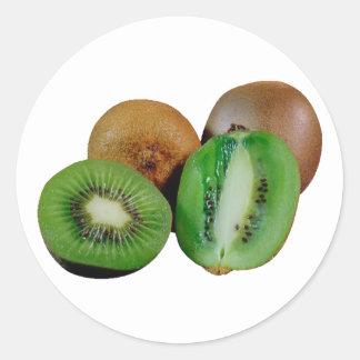 Kiwi fruit round sticker