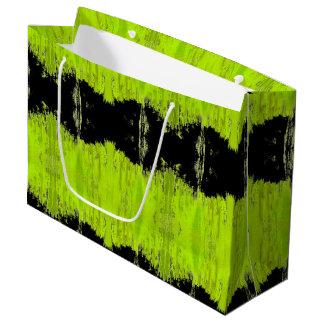 Kiwi Green And Black Pattern Large Gift Bag