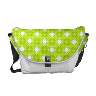 Kiwi Green And White Geometric Commuter Bags
