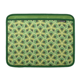 Kiwi Green Floral Pattern Laptop Sleeve