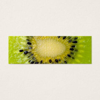 Kiwi Green Fruit w Seeds Sliced Closeup Background Mini Business Card