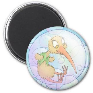 Kiwi in a bubble magnet