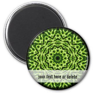 Kiwi Kaleidoscope 6 Cm Round Magnet