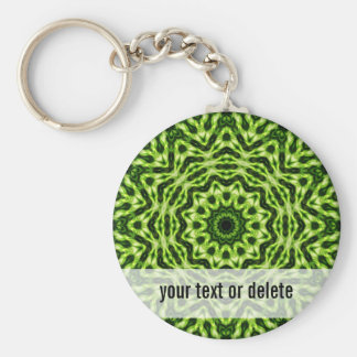 Kiwi Kaleidoscope Basic Round Button Key Ring