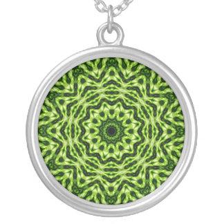 Kiwi Kaleidoscope Round Pendant Necklace