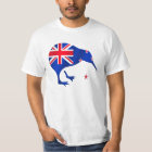 kiwi New Zealand flag soccer football gifts T-Shirt