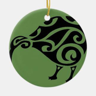 KIWI of AOTEAROA new zealand Ceramic Ornament
