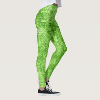 Kiwi Oil Painting Leggings