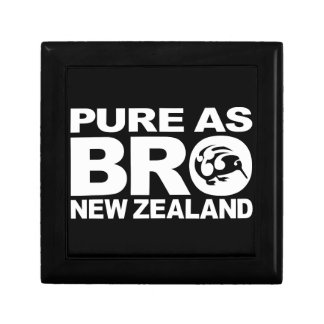 Kiwi, Pure New Zealand Small Square Gift Box