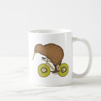 Kiwi Riding Bike With Kiwi Wheels Coffee Mug