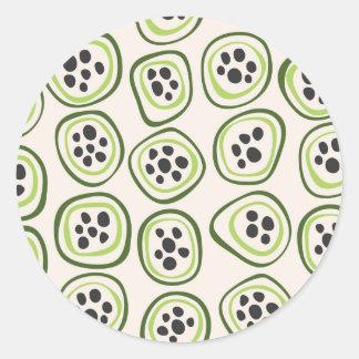 Kiwi Round Sticker