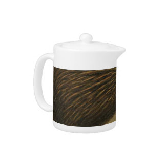 Kiwi Semi-Abstract Teapot