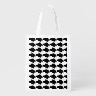 KIWI silhouette Reusable Grocery Bag
