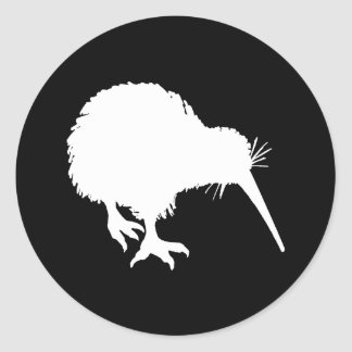 Kiwi Silhouette Classic Round Sticker