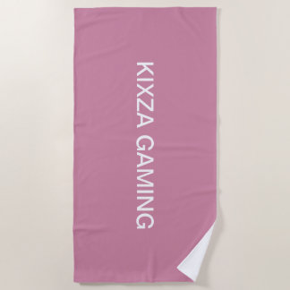 kixza gaming towel for beach and shower.