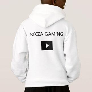 KIXZA GAMING WHITE HOODIE FOR KIDS.