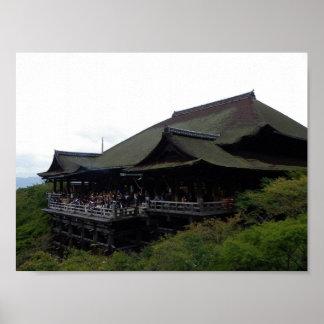 Kiyomizu Temple in Kyoto Poster