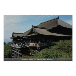 Kiyomizu Temple, one of Kyoto's main attractions, Poster