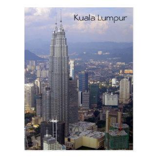 kl skyline towers postcards