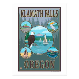 Klamath Falls, OregonScenic Travel Poster Postcard