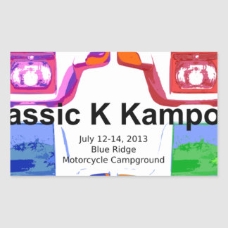 Klassic K kampout VI 2013 Rectangular Sticker