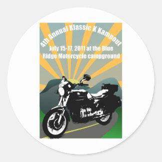 klassic_kampout classic round sticker