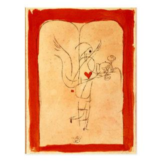 Klee - A Spirit Serves a Small Breakfast Postcard