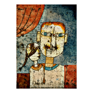 Klee - Adam and Little Eve Poster