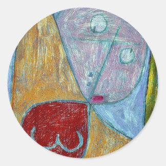 Klee - Angel Still Feminine Classic Round Sticker