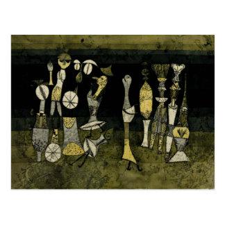 "Klee artwork, ""Comedy"" Postcard"