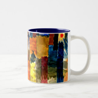 Klee - Before the Town. Paul Klee painting. Two-Tone Coffee Mug