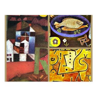 Klee Collage Postcard